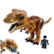 Super Heroes Star Wars Dinosaur Jurassic World Park Tyrannosaurus Bricks Model Building Blocks Toys For Children BKX125 цены онлайн