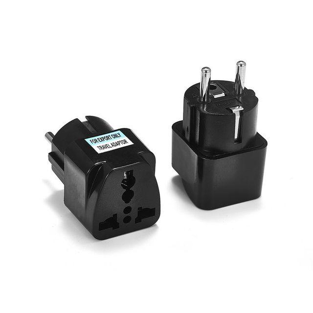 1 pièces adaptateur de prise universel ue International AU royaume-uni états-unis à l'ue Euro KR adaptateur de voyage prise électrique convertisseur prise de courant 1