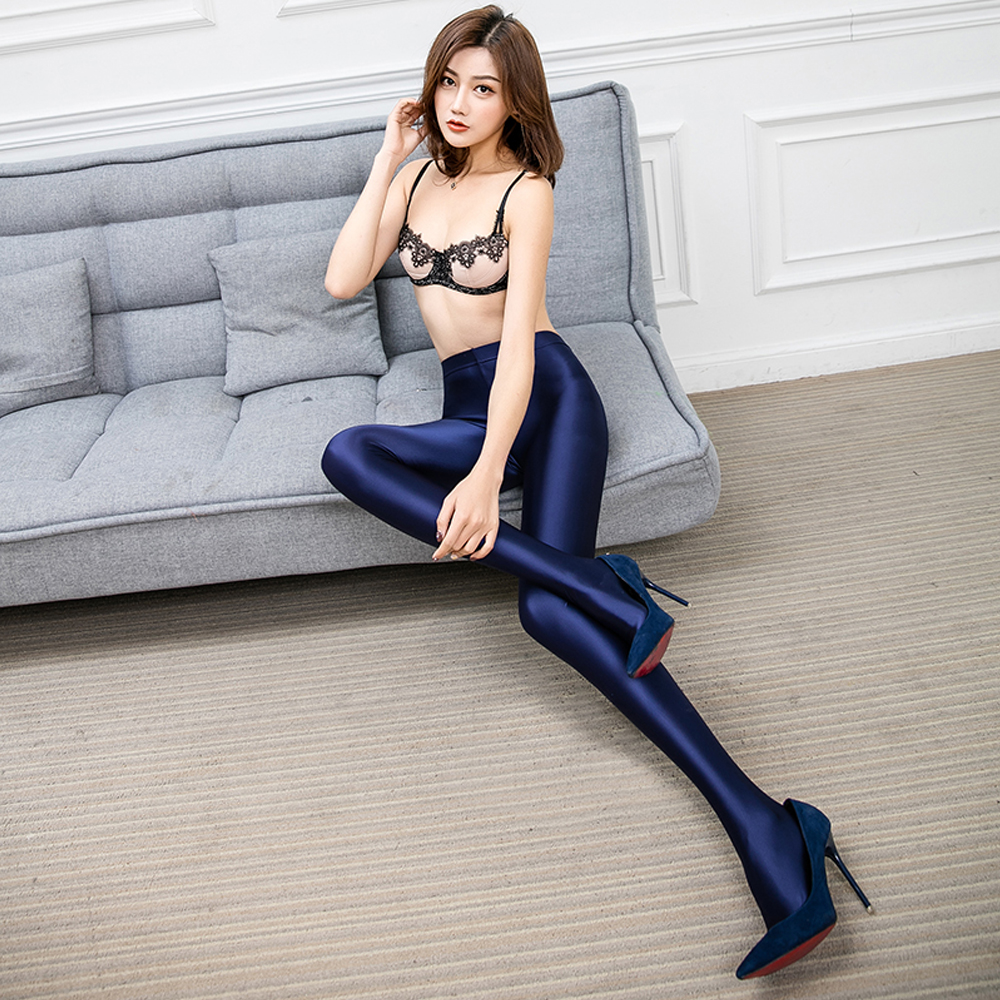NEST Pantyhose High Waist Oil Shiny Tights For Women Lingerie Hot Ultrathin Line Gloss Stockings LEOHEX Sexy Oil Pantyhose