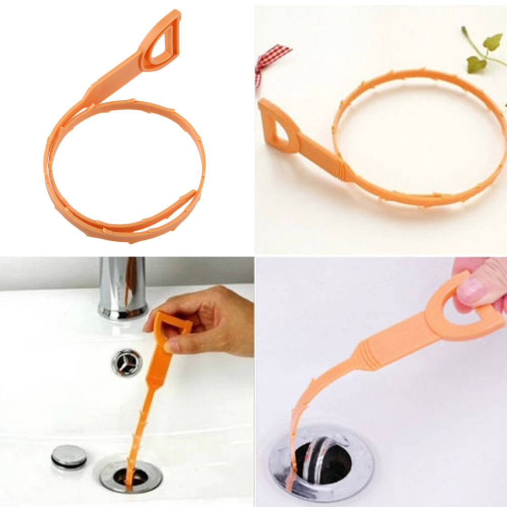 Bathroom toilet clogged - 1pc Snake Shaped Sink Cleaner Bathroom Toilet Kitchen Drain Removes Clogged Hairs Cleaning Brush For Home
