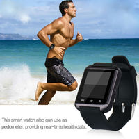 FreeShipping Smart Watch Wrist Watch U8 Watch For All Android Phone Touch Screen Connect All Mobile