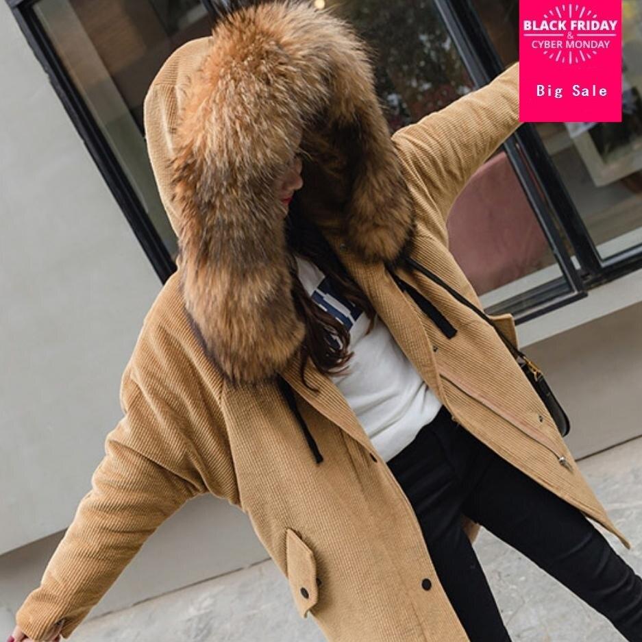 L1502 Fur Outwear En Hiver Réel Fake Épaississent De Coton Parkas Fourrure pink Mode Velours Fur Real Fur white Fur Chaud Col khaki White Femmes Côtelé caramel Femelle 2018 Pardessus Fur Veste Manteau THqvwqBx6