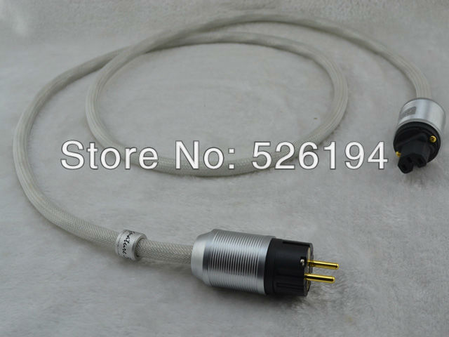 Free shipping XLO Signature S3-10 EU Power cord cable with Gold plated EU version power plugs for Amplifier free shipping krell us version gold plated power plugs ac audio plugs connection power cable