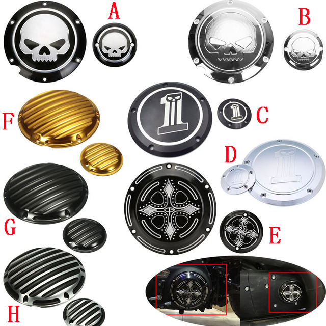 Harley Davidson Covers >> Us 42 0 Skull Engine Derby Timer Timing Cover For Harley Davidson Xl1200c Sportster 883 Xl 1200x Forty Eight Seventy Two Roadster Iron In Covers