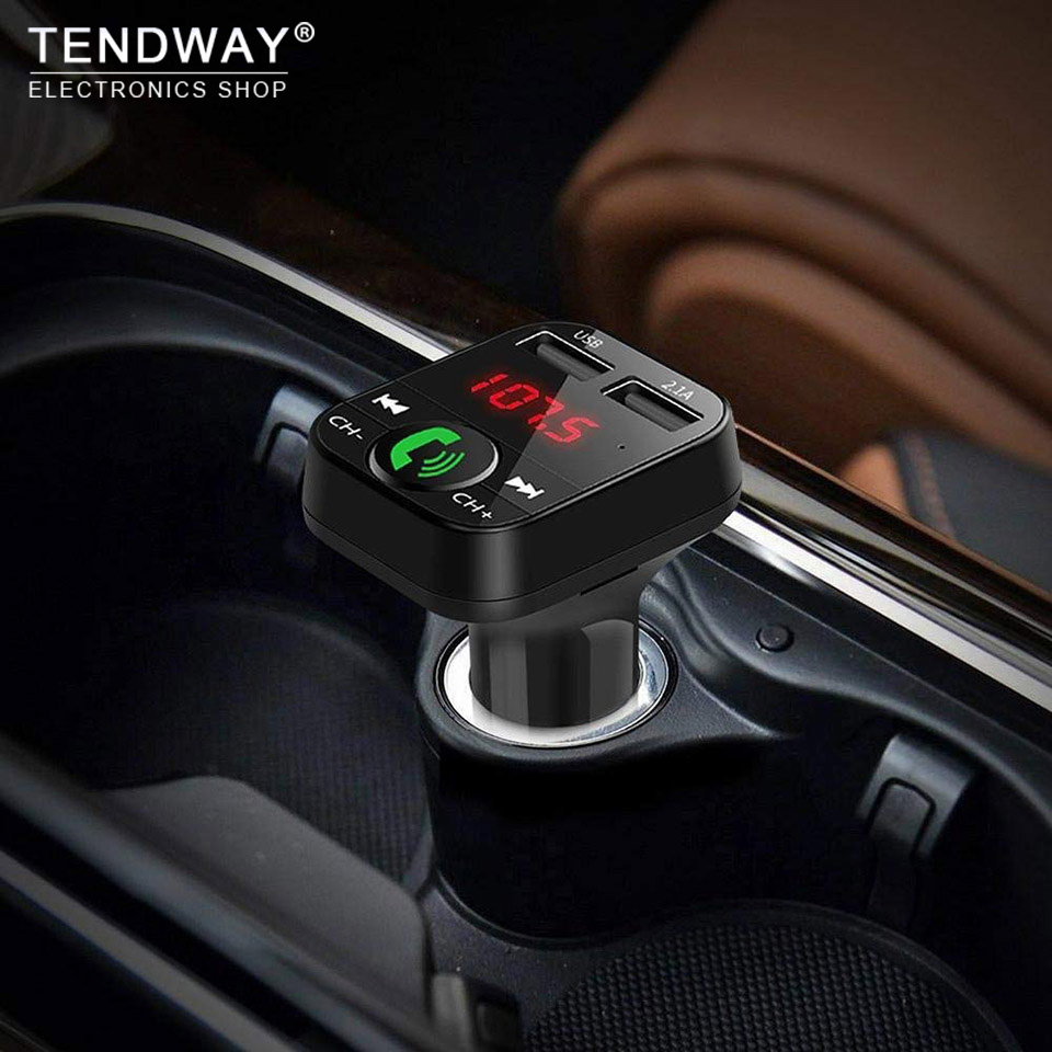 Tendway Mp3-Player Car-Charger Fm-Transmitter Led-Display Mobile Bluetooth Multi Wireless