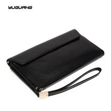 New Europe Brand Wallet Long Creative Unisex Card Holder Casual Zip Clutch Genuine Leather Cluch Coin