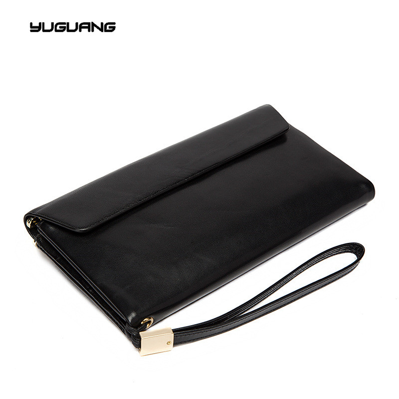 New Europe Brand Wallet Long Creative Unisex Card Holder Casual Zip Clutch Genuine font b Leather