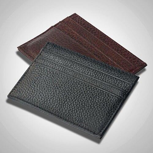 Men s Slim Credit Card Holder Faux Leather font b Wallet b font Coin Pocket Money