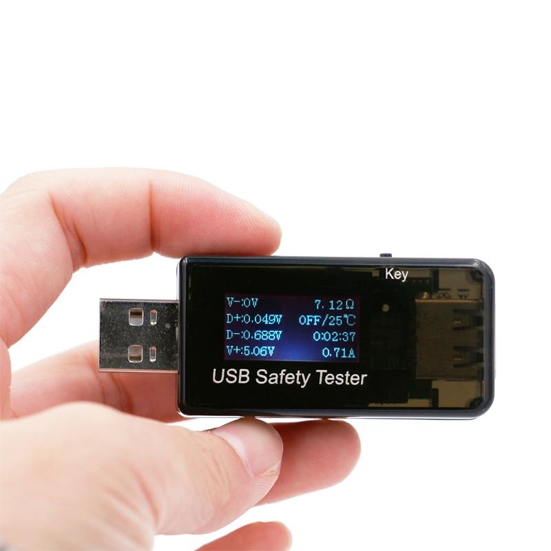 5V 9V 12V 30V USB áram- és feszültségtöltő kapacitásmérő QC - Mérőműszerek - Fénykép 1