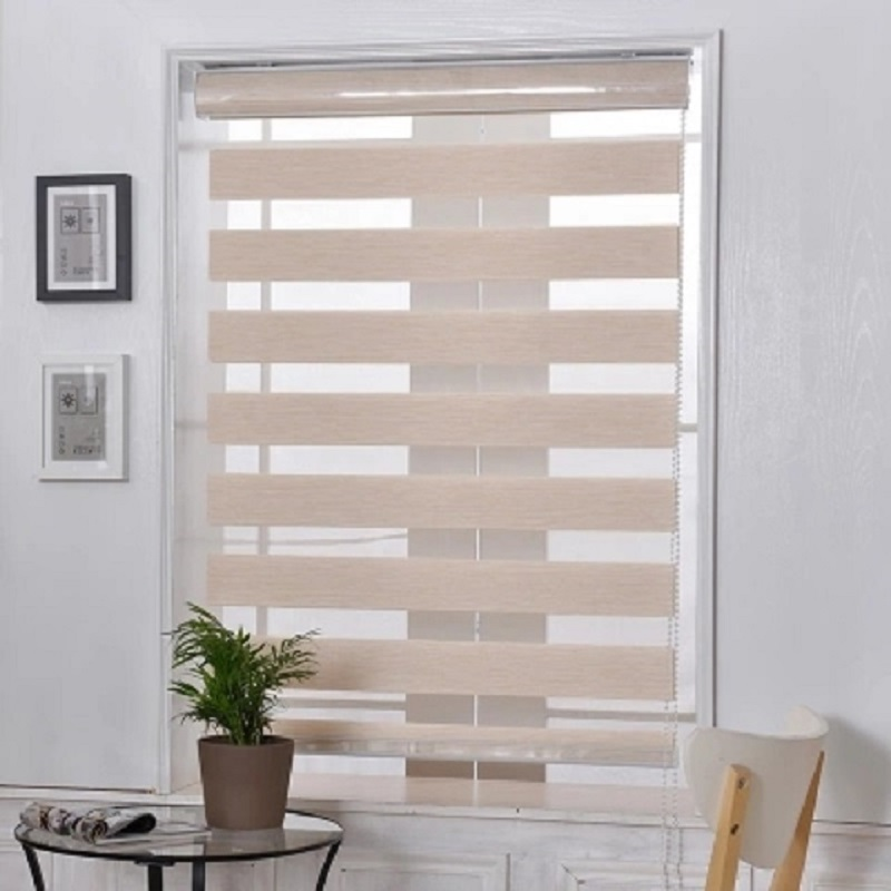jute fabric curtain day and night double layer zebra blinds for windows