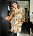 new Genuine red fox Fur coat with Raccoon Fur sleeve Winter thick Fur jacket women long fox fur DHL EMS Free Shipping F673