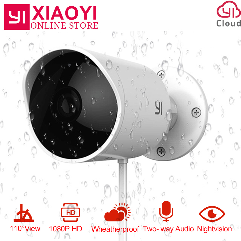 Xiaomi YI Outdoor Security Camera 1080p Waterproof Cloud Cam Wireless IP Camera 1080P HD Night Vision