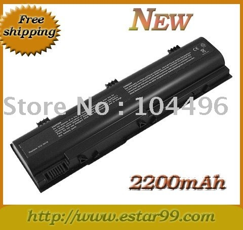 4Cell 2200mAh  BATTERY For Dell Inspiron 1300 B120 B130 HD438 / Black & Free Shipping