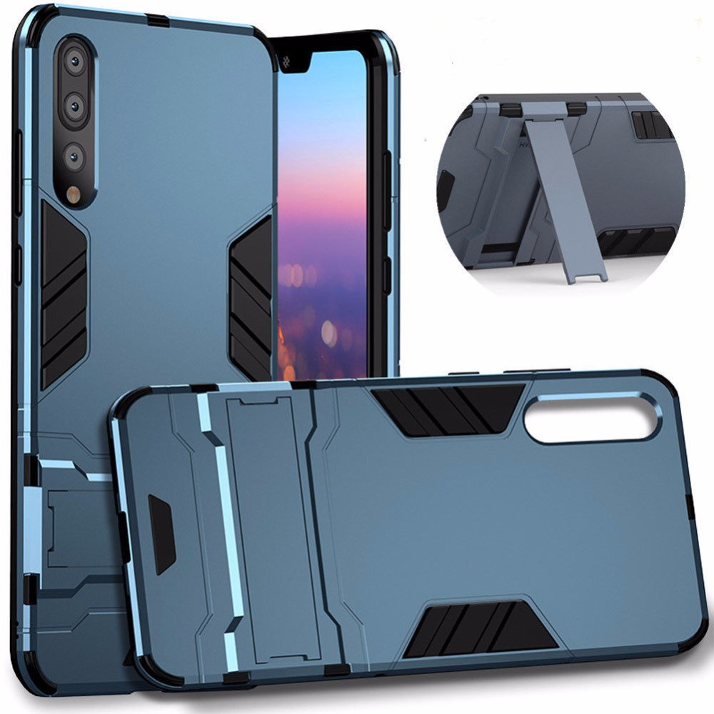 Luxury Invisible kickstand Shockproof Armor Case For Huawei P20 lite Hybrid TPU Rugged Phone Case For Huawei P20 Pro Stand Cover