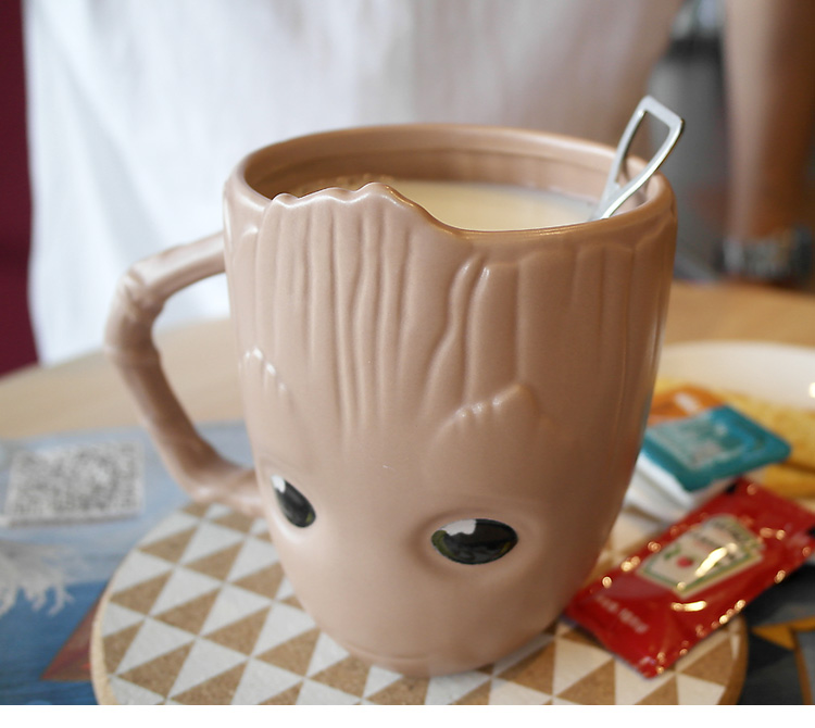 Creative Marvel Guardians of the Galaxy Baby Groot Goblet Home Ceramics Coffee Mug Cup Action Figures Model Personality Gifts (10)