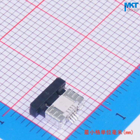 100Pcs Drawer Mode Low Contact Type 4 Pins 0.5mm Pitch 2.0mm Height FPC Connector
