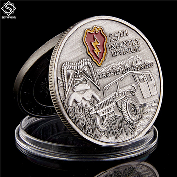 USA Military Tropic Lightning 25nd Infantry Division Challenge Souvenir Coin United States Army Collectible Gifts jerusalem israel united states embassy trump challenge coin dedicated may 14 2018