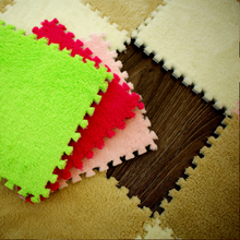 10PCS Baby Kid Toddler Foam Playmats Floor Puzzle Carpet Crawling Mat Shaggy Velvet Interlocking Exercise Flooring Play Mat 36pcs baby floor foam puzzle mat crawling play pad carpet yh 17