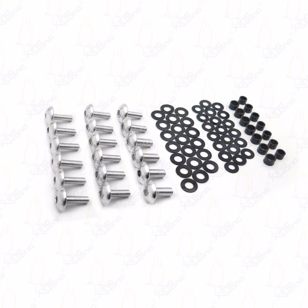 Motorcycle Sportbike Normal Fairing Bolts Kit Washers
