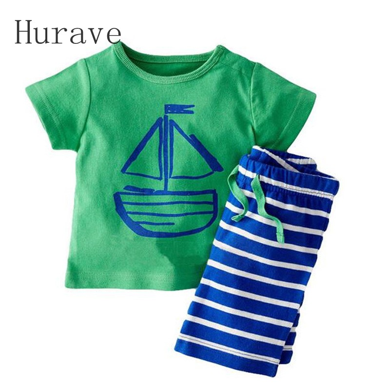 Hurave 1 pieces retail new cotton casual children boys summer clothing set toddler suits tank with pants and headband children three piece two pieces of clothing a pair of pants boys and girls baby suits baby cotton suit high end suits