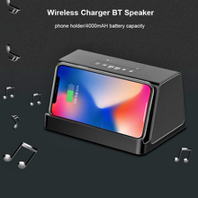2 in 1 Bluetooth speaker+10 W Fast Wireless Charger Handfree Call Portable Bass