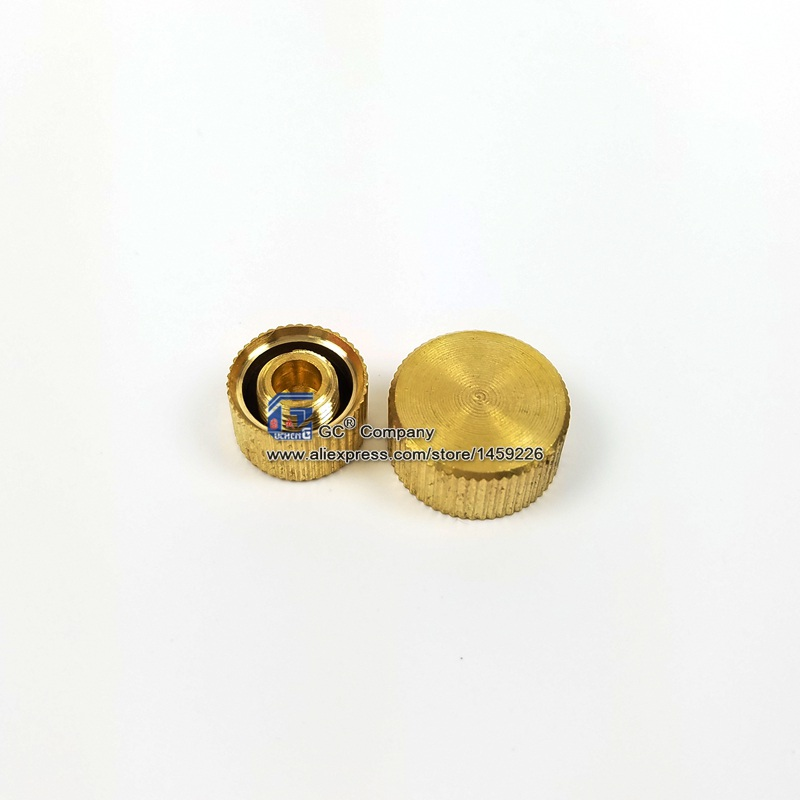 M9 M10 A C Service Port Valve Brass High Low Side Cap With