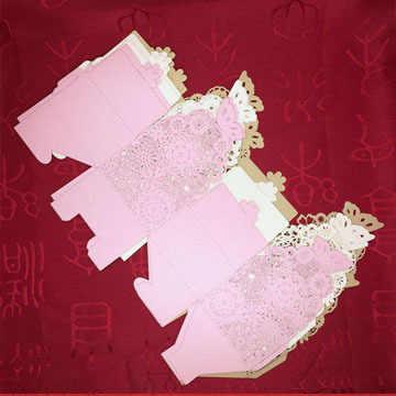 Коробка для конфет упаковка для шоколада подарочная коробка бабочка цветок кружева день рождения свадьба Вечеринка искусно изготовленные украшения своими руками пользу baby shower Wh