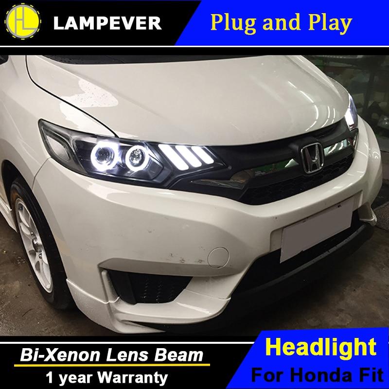 Honda Vehicle Headlights : Head lamp for honda fit headlights  jazz led
