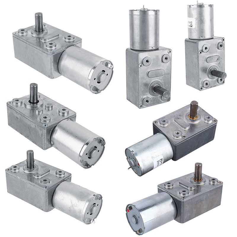 DC 12V Motor High Torque Electric Gear Reduction Motor Worm Reversible Turbo Geared Motor 2/3/5/6/10/20/30/62/100rpm
