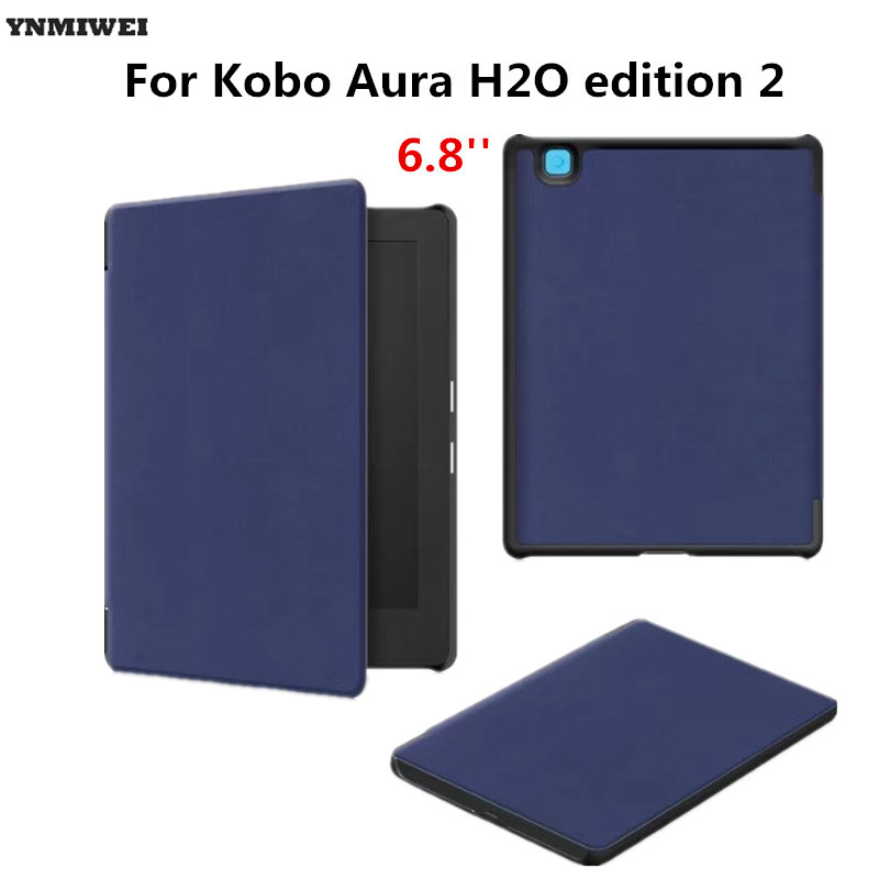 Leather Case For 2017 Kobo Aura H2O Edition 2 6.8'' Stand Flip Magnet Case For KOBO Aura H2O Edition2 Tablet Cover Case protective lichee pattern pu leather flip open case for kobo mini black