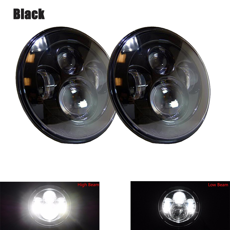 2PCS 7 Inch Led headlight 45W Round Cars Running Lights High Low Beam For Jeep Wrangler Land Rover lada niva 4x4 Motorcycle