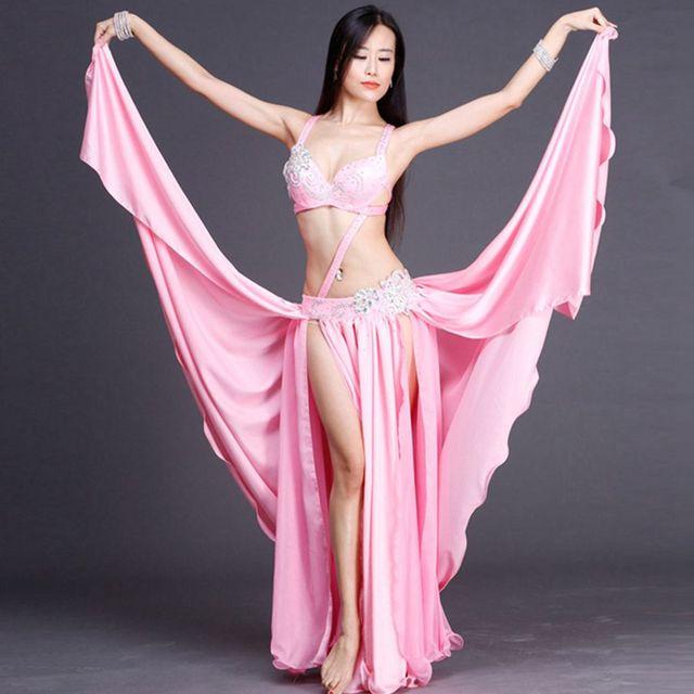 performance belly dance costume set top and skirt 2pcs ballroom dancer  senior set sexy lady Cosplay dress womendance suits 43ed6d8c0b01