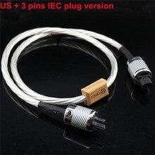 Hi-end HIFI б/у nordost тефлон 14 мм 7 ядер 15AWG посеребренный США ЕС IEC 3 булавки 2 булавки рисунок IEC odin шнур питания