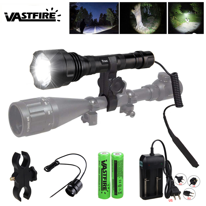 Hot Sell Tactical Scout Light Outdoor under-barrel Rifle Hunting flashlight 1600 lumen Weapon lanterna para arma Fit 20mm