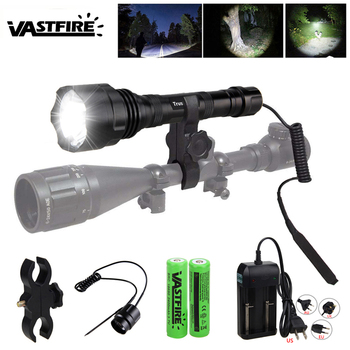 XM-L T6 1600LM Led Tactical Flashlight Outdoor under-barrel Rifle Hunting Scout Light Weapon Lanterna para arma Fit 20mm Mount