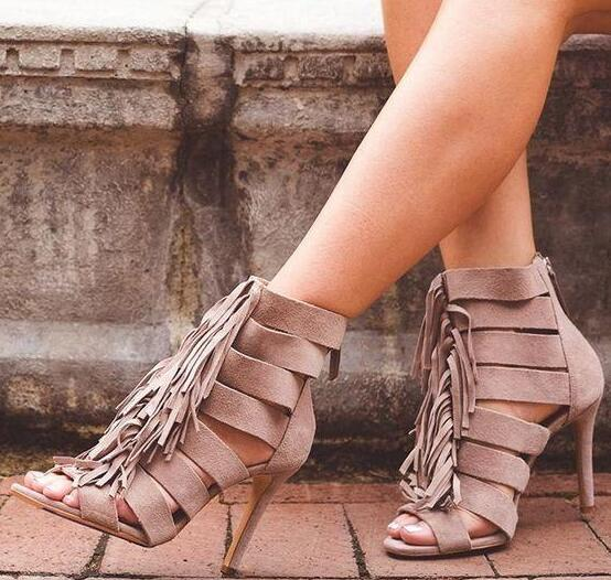 Moraima Snc Tassels Straps Peep Toe Solid Color Stiletto High High Sandals Summer Sexy Thin Heels Shoes Woman Gladiator Sandals Moraima Snc Tassels Straps Peep Toe Solid Color Stiletto High High Sandals Summer Sexy Thin Heels Shoes Woman Gladiator Sandals