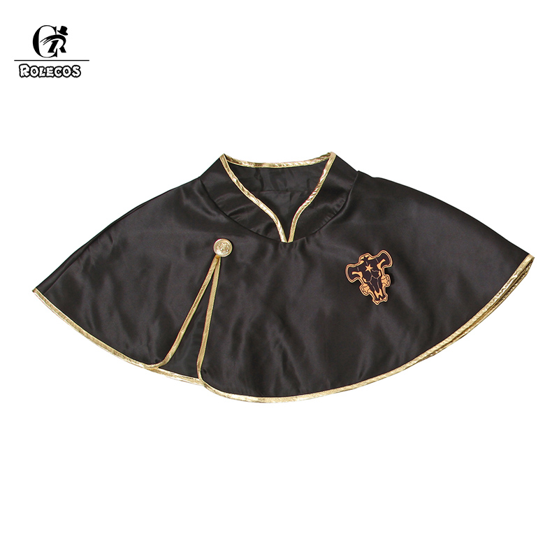 Image 3 - ROLECOS Black Clover Anime Cosplay Costume Asta Cloak Black Bull Cloak Finral Roulacase Cosplay Costume for Halloween Party-in Anime Costumes from Novelty & Special Use