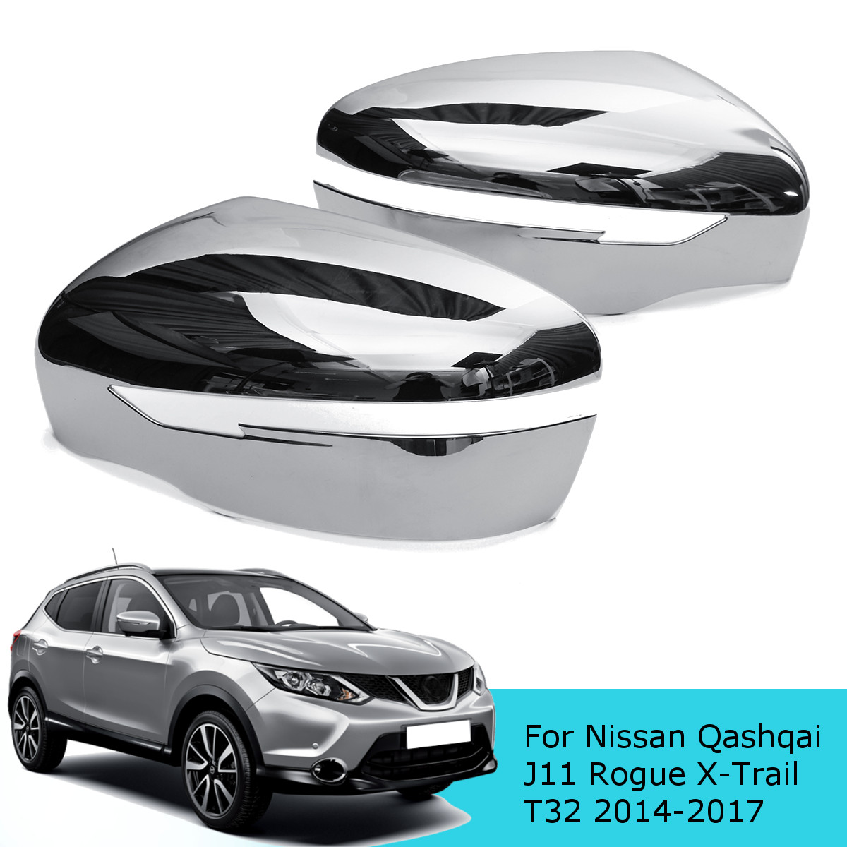 Door Wing Mirror Cover Black Left N//S For Nissan Qashqai 2007-2013 Brand New