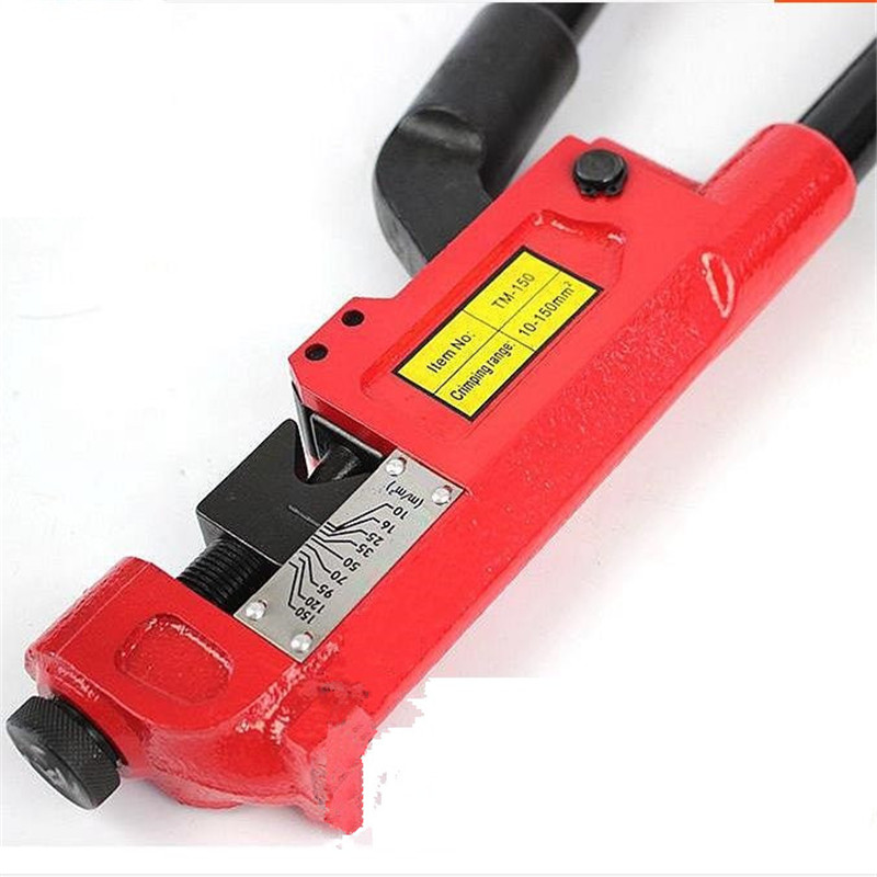TM-150 Point Pressure Mechanical Crimping Tool Crimping Pliers Hand Crimping Pliers 10-150MM2 Terminal Crimping Pliers