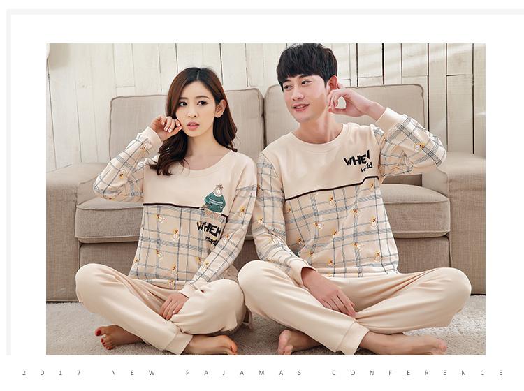 8d22ed44dd Couples pajamas long sleeve cotton spring autumn cartoon supersize ...
