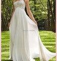New Design Floor Length Sexy Bridesmaid Dresses 2015 Sweetheart Dress to Party Elegant Ivory Chiffon Beading vestido de noiva
