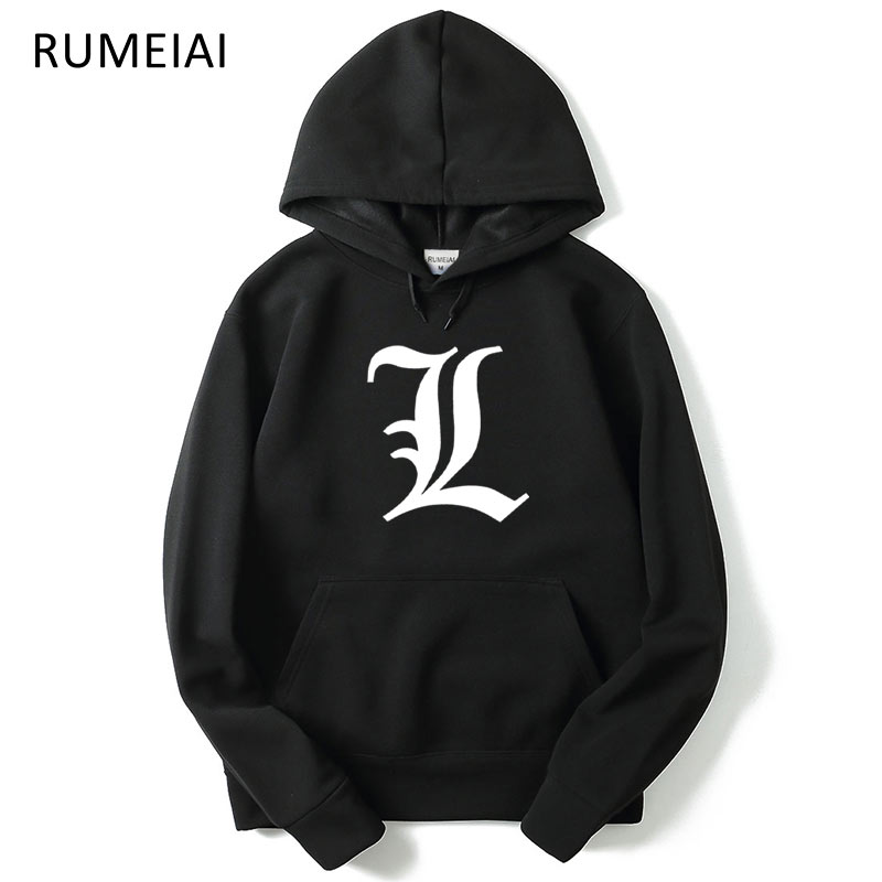 2017 New Autumn Winter Men Hoody Sweatshirts Hip Hop Fashion Death Note Hoodies Men Hooded Hombre Casual Hoodie Sweatshirts