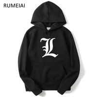 2017 New Autumn Winter Men Hoody Sweatshirts Hip Hop Fashion Death Note Hoodies Men Hooded Hombre