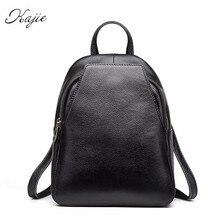 Kajie абсолютно натуральная телячья кожа рюкзак женские дизайнерские сумки на плечо Путешествия Bagpack школьный рюкзак для девочек-подростков 2017
