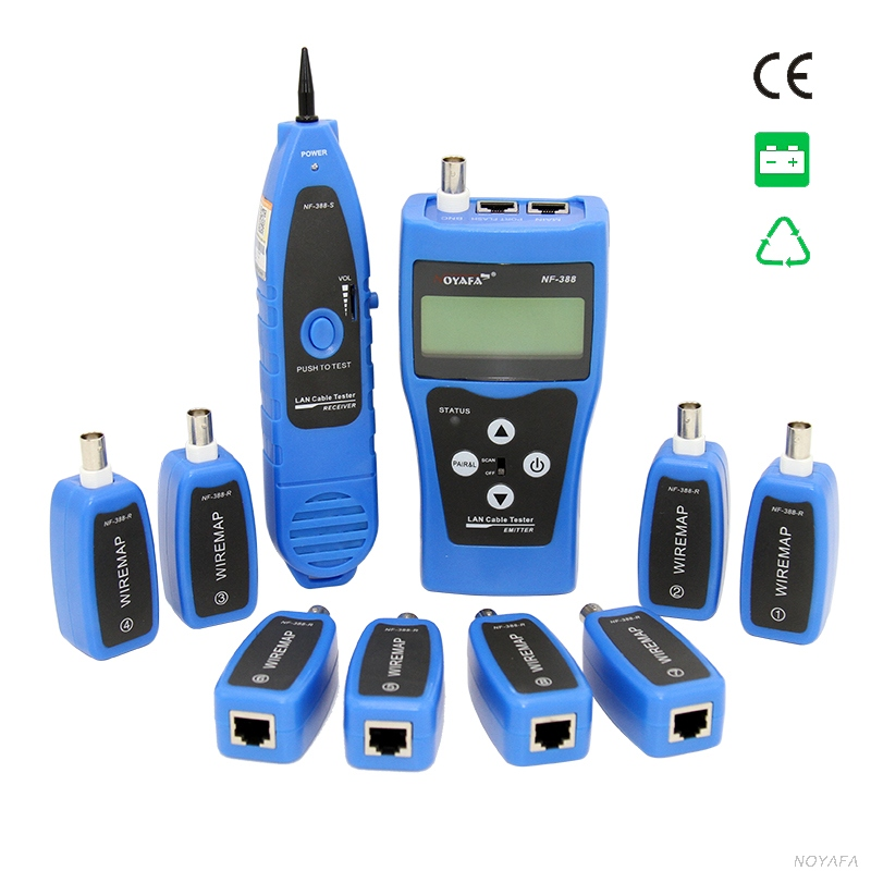 Original Noyafa NF-388 Blue English Version Multi-functional Network cable tester Cable tracker RJ45 lan tester LCD display