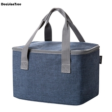 Fashion Big Capacity Lunch Bag Picnic Totes Storage Carry Case Food Tote For Women Kids Men Oxford Cloth 45