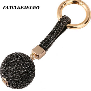 Fancy & Fantasy, новинка, стразы, высокое качество, кожаный ремешок, хрустальный шар, автомобильный брелок, подвеска в виде ключа, кольцо для женщин