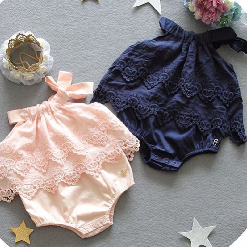 Floral Newborn Baby Girl Romper Bodysuit Jumpsuit Outfit Sunsuit Clothes  Baby Girls Lace Floral Ruffled