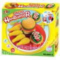 Kids Playdough Delicious Hamburger A Color Sampler MulticolorDIY Craft Soft Clay Plasticine Blocks Effect Polymer Modeling Toy