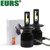 EURS C6S H1 H3 H7 H4 H8 H9 H11 9004 9005 880 Car Led Headlamp IP68